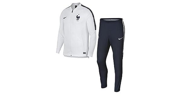 Nike Dri-Fit FFF Squad – Chándal de fútbol para Hombre, White ...
