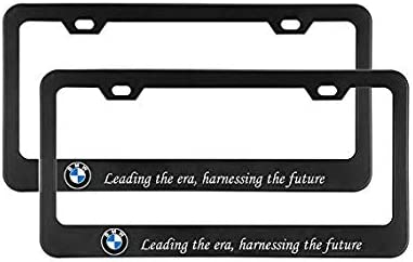2Pcs Newest Matte Aluminum Alloy Logo License Plate Frame for Cadillac with Screw Caps Cover Set Applicable to US Standard car License Frame