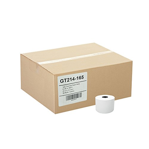 (50) Gorilla Supply 2-1/4 X 165 Thermal Paper Rolls Sharp Cash Register by Gorilla Supply