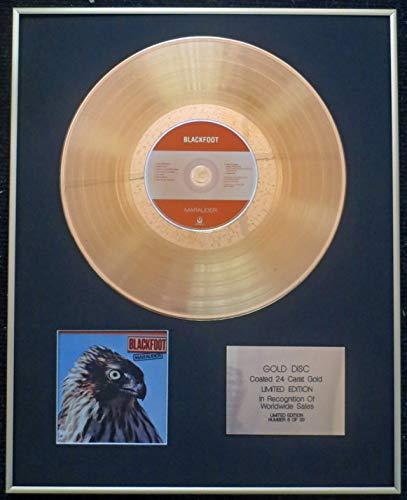 Century Presentations - Blackfoot - Exclusive Limited Edition 24 Carat Gold Disc - Marauder