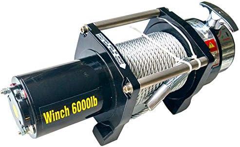 Argano a cavo lunghezza 20 m Ø 7.2mm Verricello elettrico 12V 2721kg 3300W