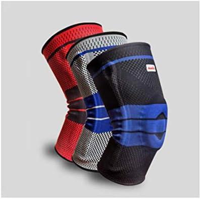Kaiyitong001 スポーツ膝パッド、スポーツ、バスケットボール、男性と女性の膝を実行しているハイキングバドミントン半月板損傷のフィットネス保護具に乗って、ブラック、ブルー - XL(1ペア),スタイリッシュで絶妙 (Color : Black red)