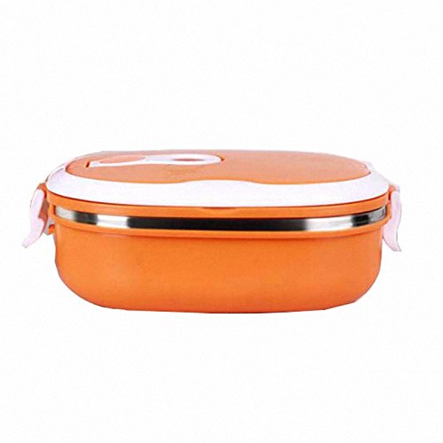 Price comparison product image Single Layer Stainless Steel Student Lunch Box 800ML Food Container Cute Hand Pot Plastic Bento Lunch Boxes For Kids Green