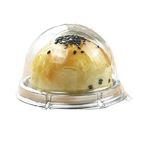 Best Muffin 50 - Hewnda 50 pieces of transparent plastic mini cake box muffins box cookies cookies muffins dome box wedding birthday gift box (2