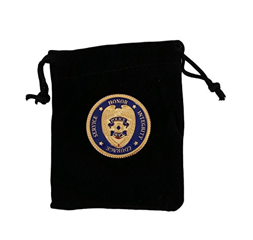 Challenge Coins Police / Law Enforcement - Great Gifts for Police in Black Velvet Gift Pouch ()