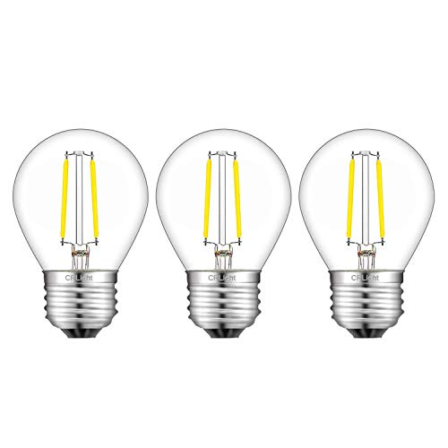 CRLight 4000K LED Globe Bulb 2W Daylight White 300LM, 30W Incandescent Equivalent,Replace 4W Compact Fluorescent CFL Bulbs,E26 Medium Base Dimmable LED Filament Bulb, G45 Clear Glass, 3 - Cfl 30w