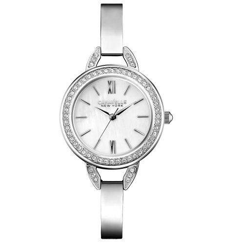 Caravelle New York Women's 43L166 Stainless Steel Swarovski Crystal-Accented Watch