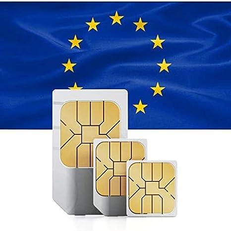 Tarjeta SIM Prepagada 12GB High Speed Data para Europa v/álida por 30 d/ías