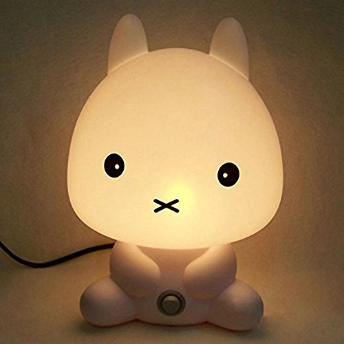 Rabbit Shape Baby Kid Sleeping Bedroom LED Glow Cute for sale  Delivered anywhere in USA