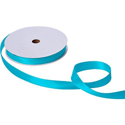 Jillson & Roberts Double-Faced Satin Ribbon, 1'' Wide x 100 Yards, Turquoise by Jillson Roberts