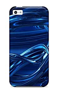 Tpu Shockproof/dirt-proof Dark Blue Abstracts Cover Case For Iphone(5c) 9588380K79629470