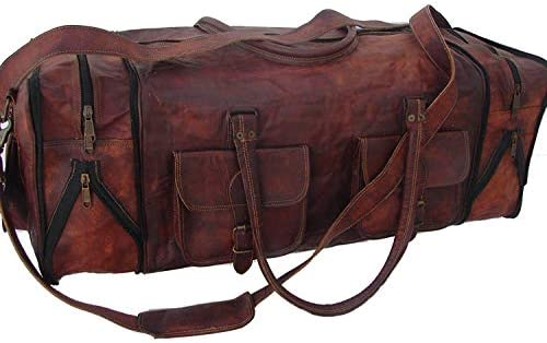 Handmade Vintage Travel Luggage 30 Inch Duffel Gym Sports Bag