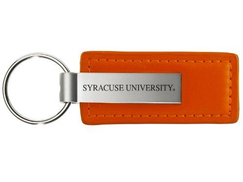 Syracuse University - Leather and Metal Keychain - Orange (Syracuse Orange Keychain)