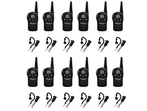 12-PACK Midland LXT118 FRS/GMRS 2 Way Radios with AVPH4 Wrap Around Ear Headsets, Brand New Sealed
