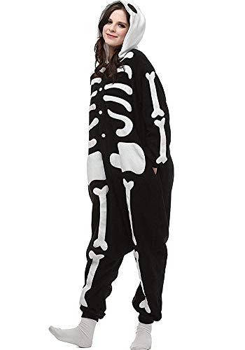 Women's Sleepwear Halloween Unisex Adult Pajamas Cosplay Costume Animal Onesie Sleepwear Nightwear (S (Height:4'9''-5'3''/146cm-159cm),Black) ()