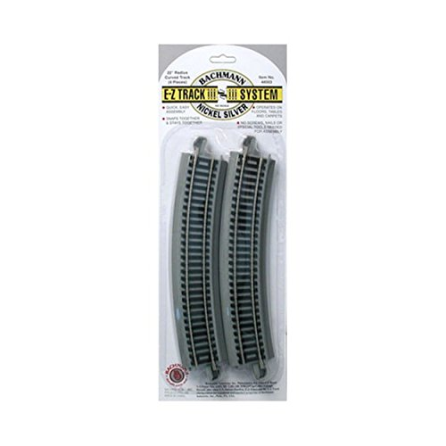 Bachmann Trains Snap-Fit E-Z Track 22 Radius Curved Track (4/card) ()