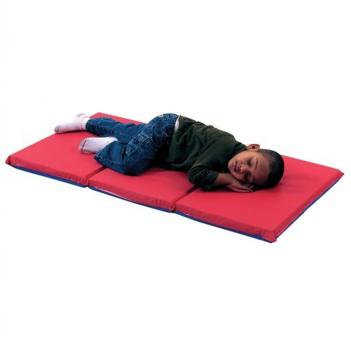 Children's Factory 3-Fold 2'' Germ Guard Rest Folding Mat - Red/Blue (Single)