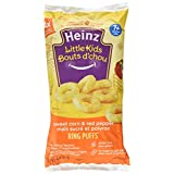 Heinz Little Kids Infant Snacks, Sweet Corn & Pepper Ring Puffs, 4 Count (Pack of 6)