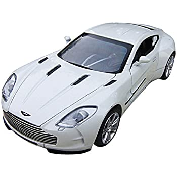 Captivating Car Toys 1:32 White Aston Martin Model Car