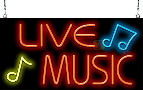 Live Music Neon Sign - 50s Neon Signs