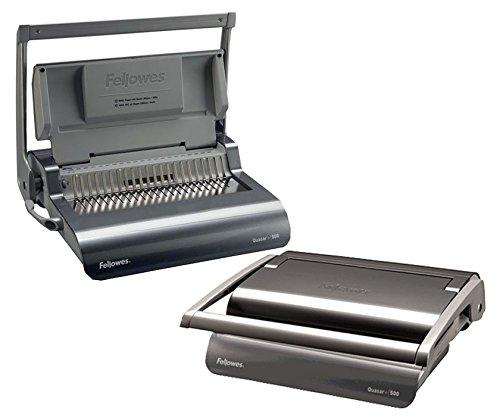 Manual Bind Machine - 5227201 Fellowes Quasar Manual Comb Binding Machine - Manual - CombBind - 500 Sheet(s) Bind - 22 Punch - 5.1