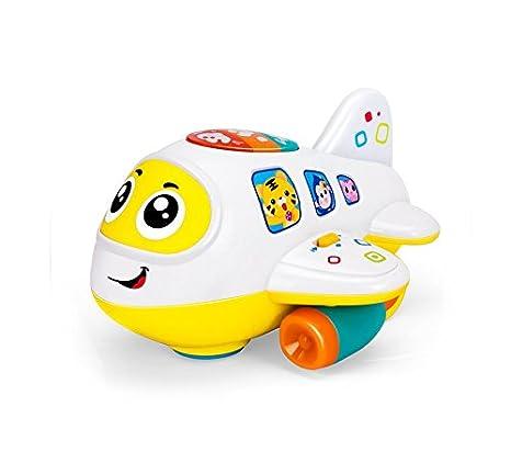 Mi primer avión 12 meses + juguete de bebé inteligente avión juguete música/luz/sonido para niños y niñas