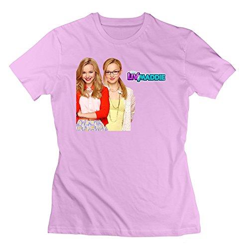 Abbas Women Children's Television Series Liv And Maddie Tshirt XXL Pink