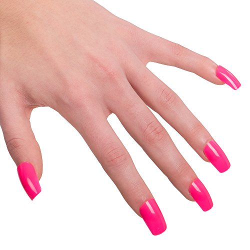 Carnival Toys 7257 Full Nail Tips/False Nails - Pink Fluo One Size