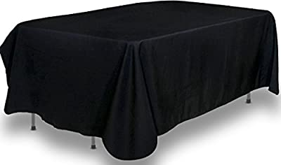 90 x 132-Inch - Black Tablecloth - 100 Percent Polyester Rectangular Table Cover - by Utopia Kitchen