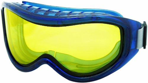 Sellstrom S80202 Odyssey II Series, Indirect Vent, Dual Panel Amber Lens - Scratch Resistant/Anti-Fog, Chemical Splash Safety Goggle, Adjustable Neoprene Head Strap