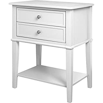 Charmant Ameriwood Home Franklin Accent Table With 2 Drawers, White