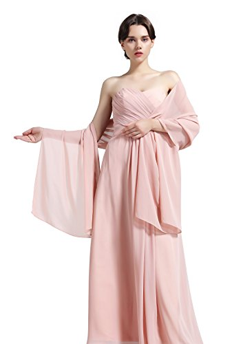 Sheer Soft Chiffon Bridal Women's Shawl For Special Occasions Pale Mauve 79