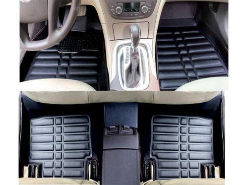 FidgetKute Auto Floor Mats Car FloorLiner for Lexus ES350 2007-2011 Front+Rear All-Weather Black