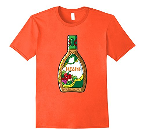 Mens Salad Dressing T-Shirt Matching Couples Halloween Costume XL Orange
