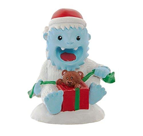 Top Fin Christmas Holiday Santa YETI Opening Gift Aquarium Ornament (Fin Top Decorations Aquarium)