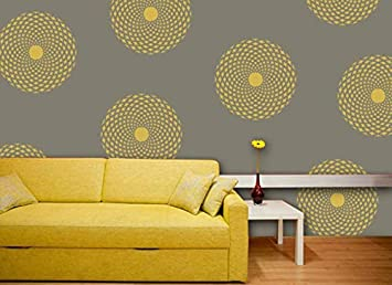 Buy Gallerist Reusable Beautiful Round Flower Plastic Wall Design