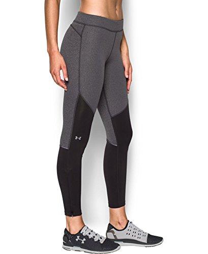 Under Armour Women's ColdGear Elements Legging, Carbon Heather (090), Large