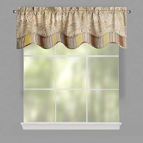 Used, Waverly Paddock Shawl Paisley Stripe Scallop Window for sale  Delivered anywhere in USA