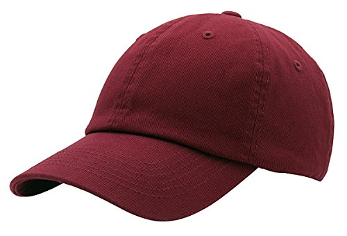 - BRAND NEW 2016 Classic Plain Baseball Cap Unisex Cotton Hat For Men & Women Adjustable & Unstructured For Max Comfort Low Profile Polo Style  Unique & Timeless Clothing Accessories By Top Level, Burgundy, One Size