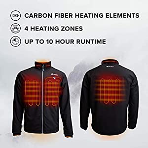 Venture Heat Men's Softshell Heated Jacket with Battery Pack – Windproof Electric Coat Outerwear, Outlast 2.0