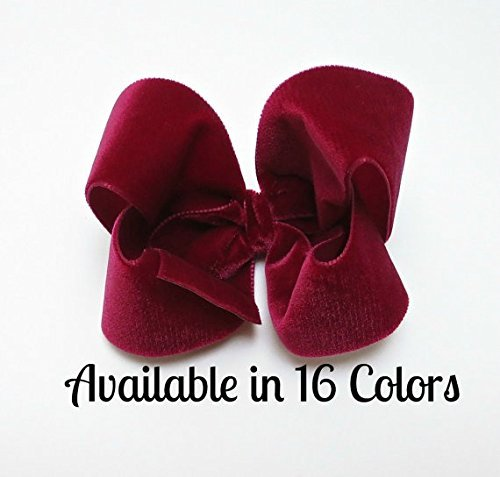 4 inch Velvet Hair Bows, Hair Bows for GIrls, Baby Hair Bows, Toddler Hair Bows, Womens Hair Bows
