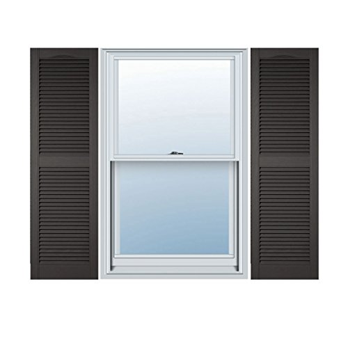 Ekena Millwork LL1C12X06500TG Custom Cathedral Top Center Mullion, Open LouverShutter (Per Pair)12