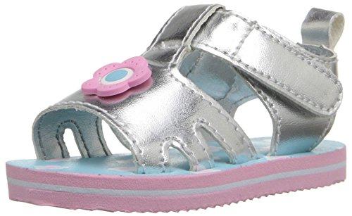 Gerber Baby Girl eva Slip On Sandals, Blue Sliver, Size 2M US/US