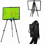 RoseFlower® Magnetic Coaches Tactical Board, Portable Professional Football/Soccer Magnetic Tactics Strategy C