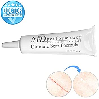 Ultimate Scar Formula - MD Performance Advanced Silicone Scar Removal Gel - For Surgical, Traumatic, Burn, Acne and C Section Scars