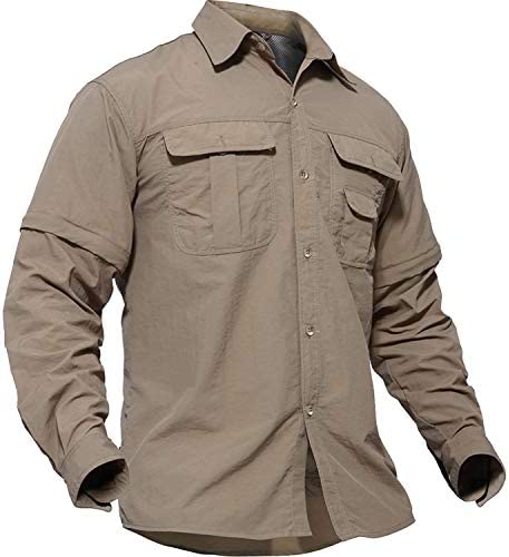 [スポンサー プロダクト]TACVASEN アウトドア メンズ シャツ 長袖 ミリタリー タクティカル BDU tシャツ 登山
