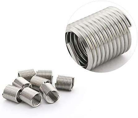 Size: M10x1.5x1D Screw 304 Stainless Steel M101.51//1.5//2//2.5//3D Wire Thread Insert M10 Screw Bushing Stainless Steel Wire Screw Sleeve Thread Repair