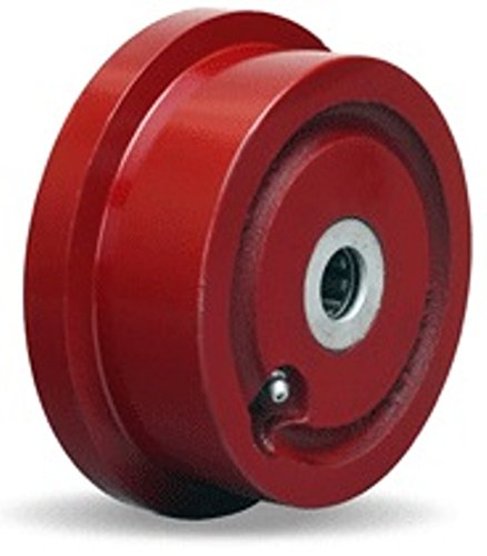 5'' Cast Iron Flanged Wheel, 1000 lbs Capacity, Roller Bearings