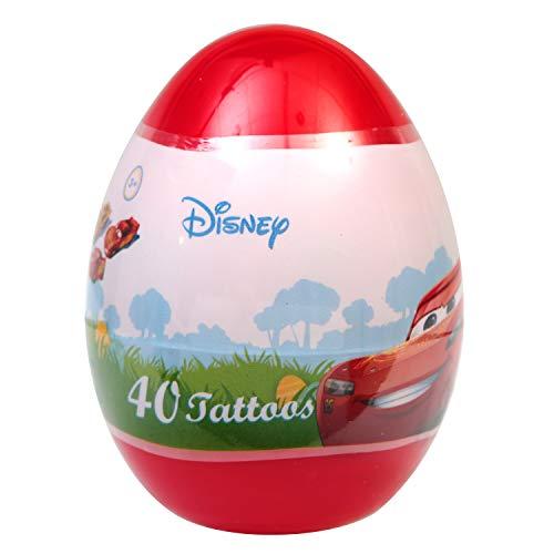 Disney Pixar Cars Jumbo Plastic Egg with 40 Tattoos]()