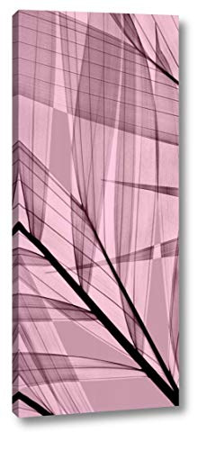 """Palms B, Rose Quartz by Steven N. Meyers - 12"""" x 28"""" Gallery Wrapped Giclee Canvas Print - Ready to Hang"""